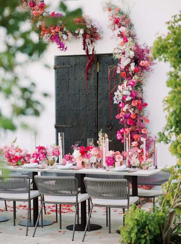 Decoraciones de mesas para bodas de verano